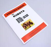 KUBOTA B5100D B5100E B6100E B6100D B7100D TRACTOR OPERATORS OWNERS MANUAL BOOK
