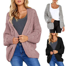 Damen Cardigan Strickjacke Strickpullover Bluse Pullover Winter Jacke Sweater