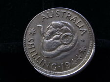 Australia. 1944 Mistruck Error Shilling. Raised rim at base on reverse. aUNC