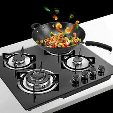 "23"" 4 Burners Built-In Stove Top Gas Cooktop LPG/NG Easy to Clean Gas Cooking"