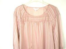 LC Lauren Conrad women's sheer pink pullover top size L