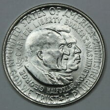 About Uncirculated Washington - Carver Commemorative Silver Half Dollar 50c (1)