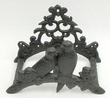 Cast Iron Bird Hose Reel Rustic Brown Home Decor