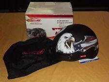OUTLAW MOTORCYCLE HELMET DOT CERT FLAT BLACK EAGLE XL MODEL XU177  NEW IN BOX