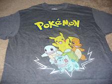 Pokemon Mens Pikachu Gray GO T-Shirt Size Large L