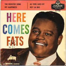 """FATS DOMINO """"HERE COMES FATS"""" UK 50'S EP LONDON RE-P 1080"""