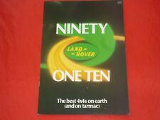 LAND ROVER NINETY One Ten 90 110 SOFT TOP pickup Hardtop stazione PROSPEKT 1982