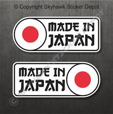 Made In Japan Flag Sticker Vinyl Decal JDM Car Sticker Fits Honda Mazda Subaru