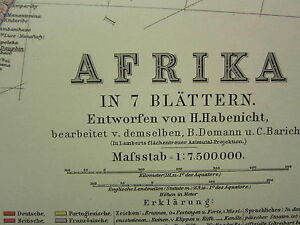 1907 DATED MAP ~ WESTERN AFRICA MADAGASCAR SOMALIA MAURITIUS