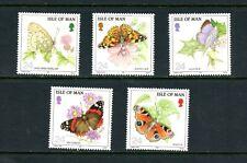 V711  Isle of Man  1993  butterflies   5v.    MNH