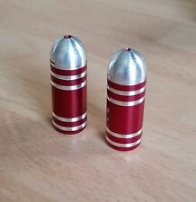D2O Alloy Bullet Valve Caps (pair) : Schrader : Red