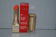 Clarins Satin Finish Age Defying Lipstick 09 Juicy Clementine 0.1 oz New Boxed