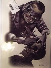 Temporary Body Art Arm Skeleton Skull Tattoo Sticker Man Women Waterproof