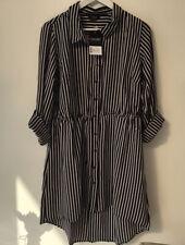 Yours Sz 16 NEW Shirt Dress Striped Black White