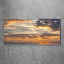 Glas-Bild Wandbilder Druck auf Glas 120x60 Deko Landschaften Sonnenuntergang