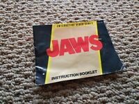 Jaws Nintendo NES Instruction Manual Booklet ONLY