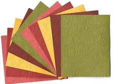10 FALL SWIRLS Embossed A2 Card Fronts Recollections Spice Market Cardstock