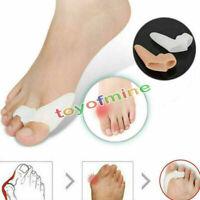 2 Pcs Gel Silicone Toe Bunion Pain Relief Straighteners Separators Alignment Pad