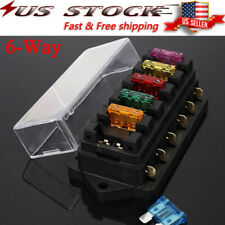 6-Way Blade Fuse Box Block Holder LED Indicator 12V 32V Auto Marine Waterproof