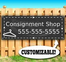Consignment Shop Custom Phone Number Advertising Vinyl Banner Flag Sign Usa