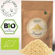 1000g Bio Ingwer Pulver gemahlen Ingwerwurzel für Tee plastikfrei verpackt 1kg