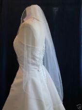 One Tier Tulle Elbow, Fingertip, Floor,Chapel Length Wedding Veil Pencil Edge