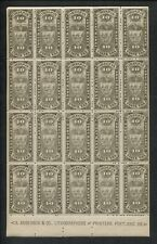 RARE Sheet of 20 Portland Oregon State Insurance 10c Tax Stamps A Anderson & Co.