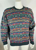 Vintage XL Mens Coogi Style Sweater 3D Cotton Bill Cosby Pft Guy 80s 90s Crewnec