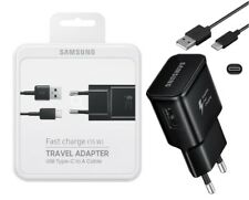 Original Samsung Ladegerät + USB-C Schwarz Ladekabel für Samsung Galaxy TabPro S