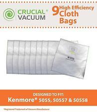 9 REPL Kenmore Type Q Vacuum HEPA Style Cloth Bags Part # 433934