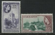 Barbados 48 & 60 cents from 1st QEII set mint o.g.