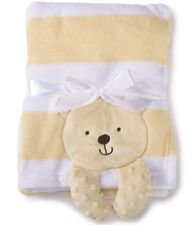 Starting Out - Baby Boy Applique Bear  Blanket Yellow