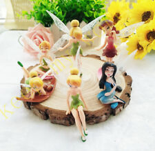 6 Pcs Disney Tinker Bell Fairies Princess Figure Modle Doll Play Toy Cake Topper
