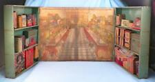 Wolverine Corner Grocer Store Toy Play Set Litho Picture Cardboard Goods Antique