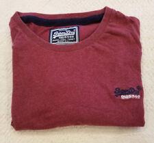 NWOT Vintage Superdry Orange Label Short Sleeve Red T-Shirt Men's Large NEW