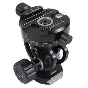 Tripod Monopod Panoramic Geared Head with Arca-Swiss Quick Release Plate Clamp