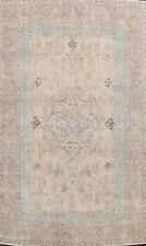 Muted Tebriz Semi Antique Evenly Low Pile Area Rug Distressed Hand-knotted 10x12 00004000
