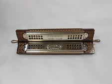 Vintage Hohner German Revolving Trip Tych Harmonica In Original Box