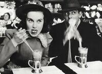 1938  DEANNA DURBIN & EDDIE CANTOR by Alfred Eisenstaedt Radio Vintage Photo Art
