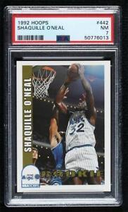 1992-93 NBA Hoops Shaquille O'Neal #442 PSA 7 Rookie RC HOF