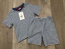 THE LITTLE WHITE COMPANY Blue & White Stripe Shorts Pyjamas-12-18 Months-L@@K!