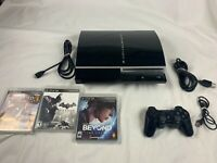 Sony PlayStation 3 PS3 Upgraded 500 GB Console Lot w Games System Bundle CECHP01