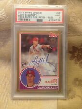 JACK FLAHERTY 2018 TOPPS UPDATE 1983 TOPPS BASEBALL GOLD AUTO RC 27/50