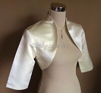 Ivory/Cream Satin Wedding Bolero/Shrug/Cropped/Jacket/Stole/Wrap/Shawl 3/4