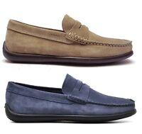 FRAU FX 14A2 SUGHERO JEANS scarpe uomo mocassini slip on sneakers camoscio blu