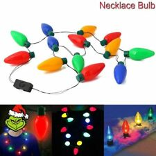 Hot LED Light Up Christmas Bulb Necklace Party Xmas Gift ideas Necklace Jewelry