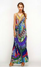 CAMILLA FRANKS SWAROVSKI HUASTECEAN JUNGLE WRAP DRESS layby available .