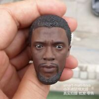 "Free Shipping 1:6 scale Head Sculpt Black Panther fit 12"" Figure body"
