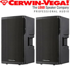 "Pair Set Cerwin Vega CVX-15 15"" 1500 Watt Powered Loud Speaker 3 Ch Mixer DJ Pro"