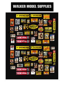 1:35 -1:32 scale Pre-cut Vintage style Garage sign stickers model car. Set 1